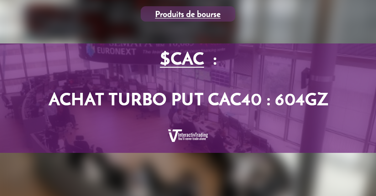 $CAC (CAC 40) - Achat Turbo Put CAC40 si ....